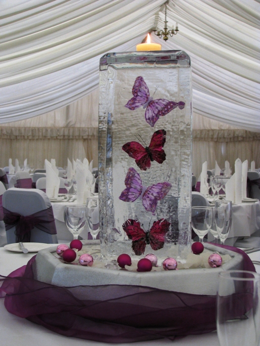 The new cool in table centrepieces spotlight ice styling