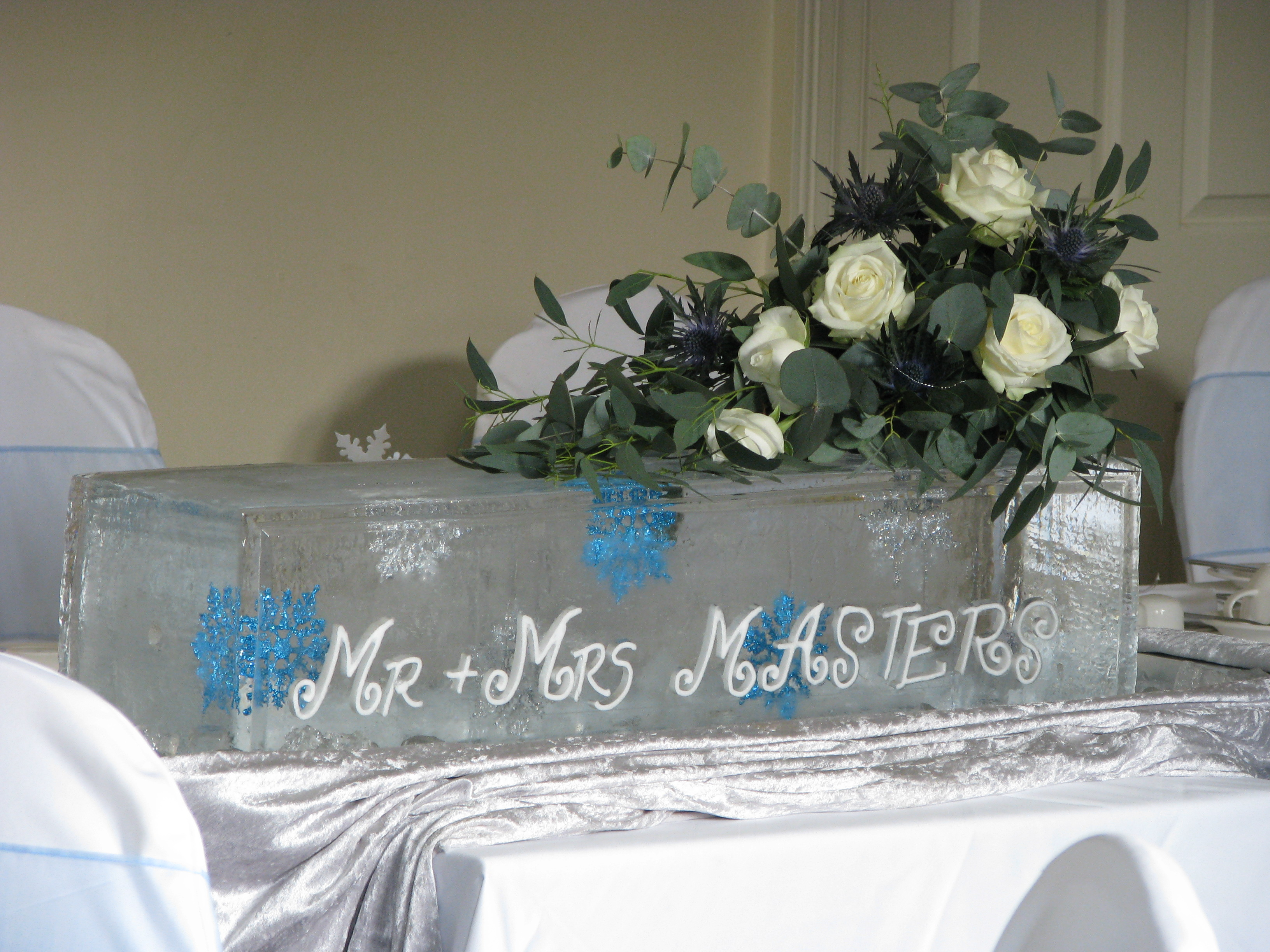 The New Cool in Table Centrepieces - Spotlight - Ice Styling