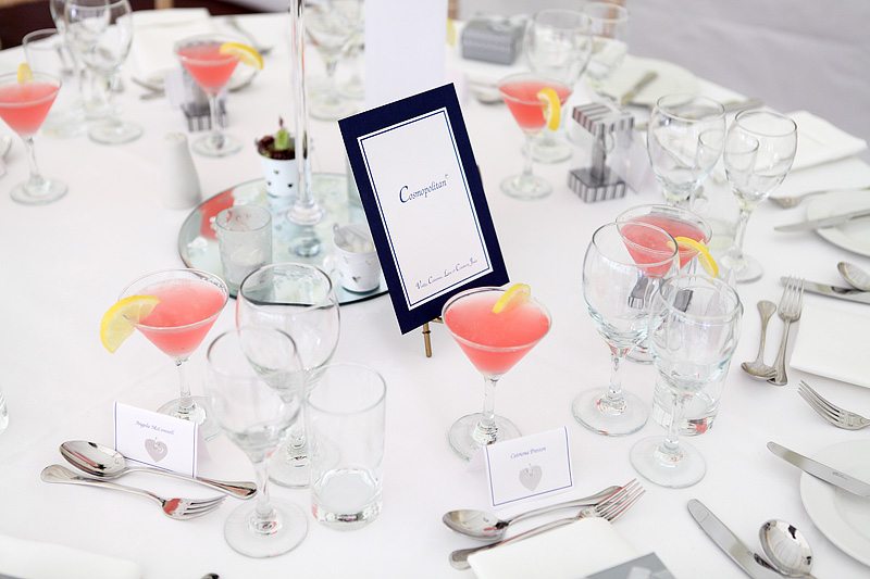 cocktail wedding inspiration, cocktail table names