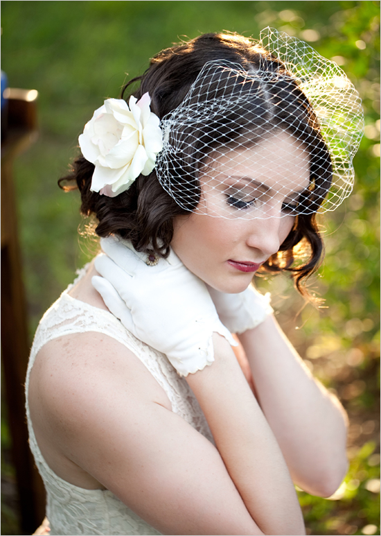 You tried? vintage wedding hairstyles with birdcage veil