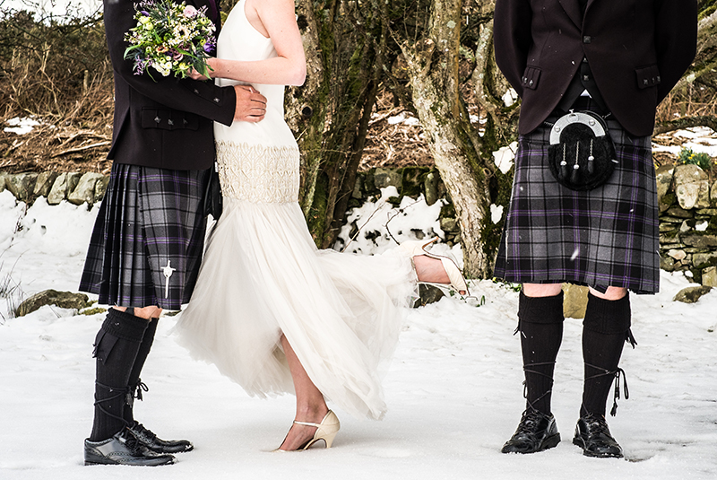 Unique Wedding Dresses Scotland: The Adventure Continues...Stunning Snowy Scottish Wedding