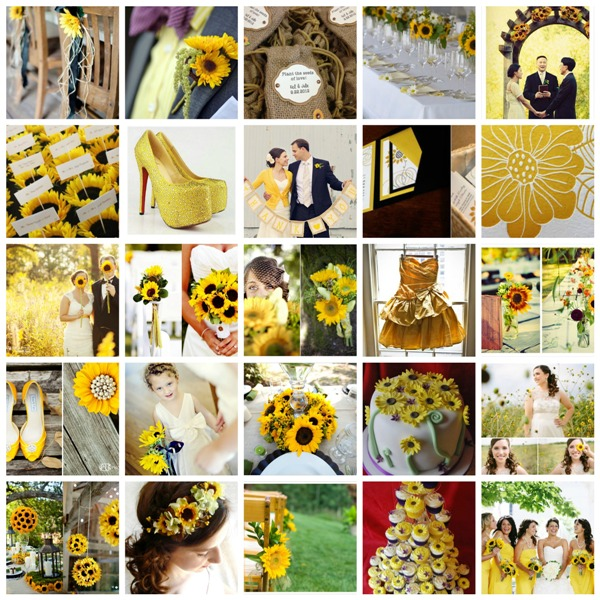 Sunflower Wedding Moodboard And Styling Ideas · PicMonkey Collagesunflowers