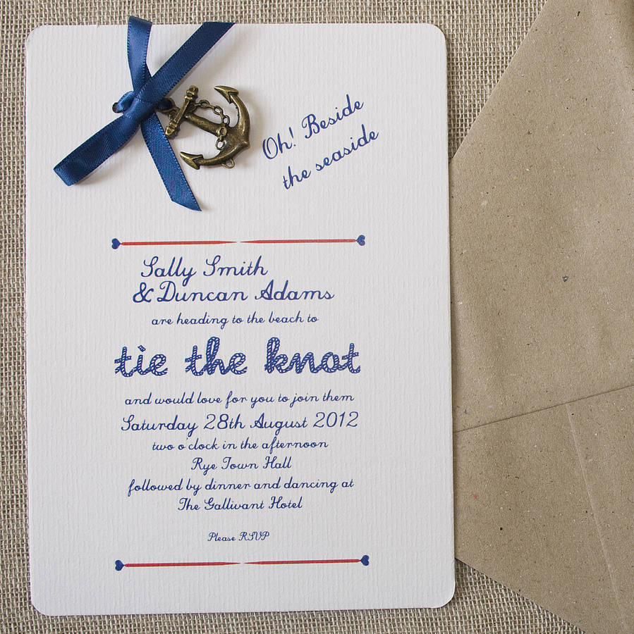 all aboard shipmates styling and ideas for a nautical With nautical wedding invitations with photo