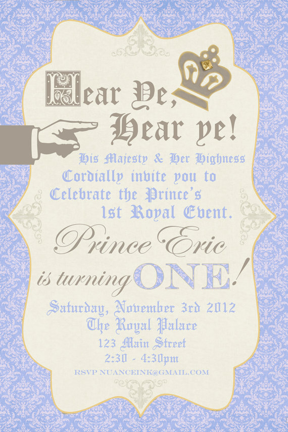 Little Prince Party Treat your little one like royalty for their – Little Prince Birthday Invitations