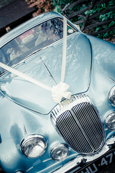 Winter wedding,  Vintage wedding, DIY Wedding,  wedding car, Blue Daimler V8 , mark pugh photography