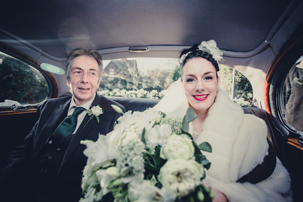 Winter wedding,  Vintage wedding, Bride and father of the Bride,  1940's Wedding Dress, mark pugh photography