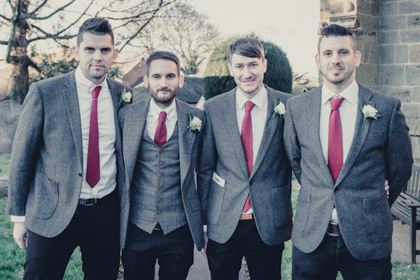 Winter wedding,  Vintage wedding, groom and groomsmen, mark pugh photography