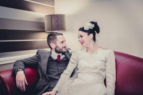 Winter wedding,  Vintage wedding, bride and groom portrait, donington manor,  1940's Wedding Dress, mark pugh photography