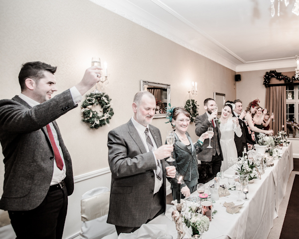 Winter wedding,  Vintage wedding, reception room, donington manor, best man speech, mark pugh photography
