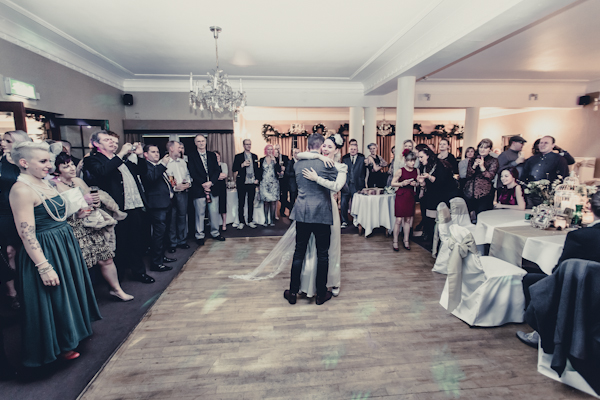 Winter wedding,  Vintage wedding, reception room, donington manor, bride and groom first dance, mark pugh photography