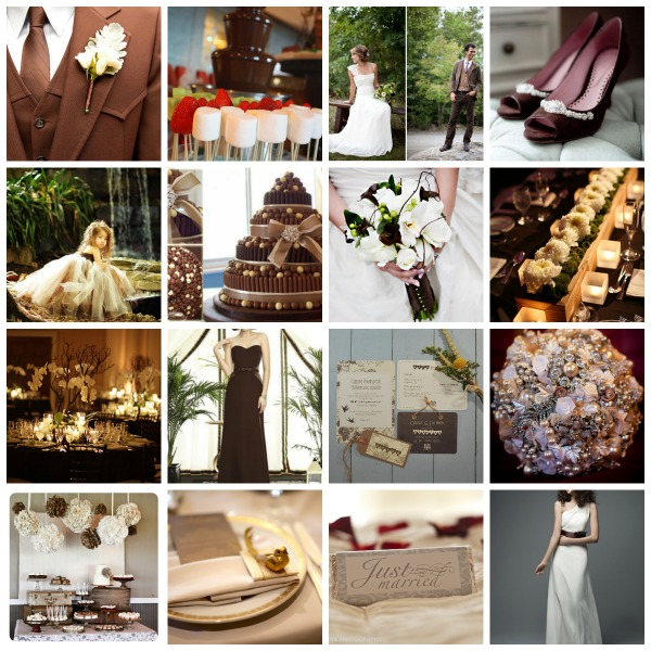 chocolate wedding theme, chocolate wedding styling, chocolate wedding moodboard, chocolatewedding ideas