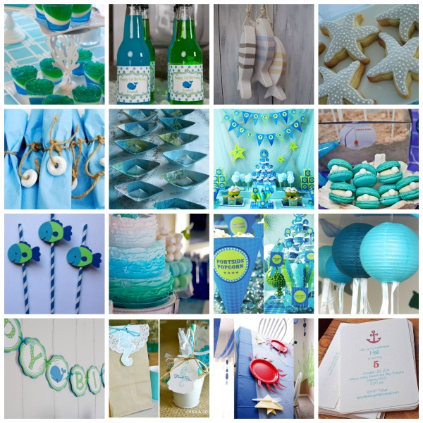 ocean party theme, ocean party ideas, ocean party styling, ocean party, ocean party moodboard