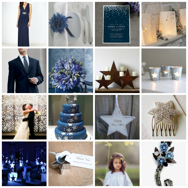star wedding, star wedding theme, star wedding ideas, star wedding styling, star wedding moodboard