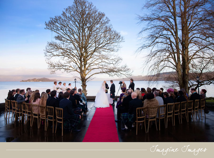 A Wintertime Loch Lomond Wedding At The Cruin With An Outdoor