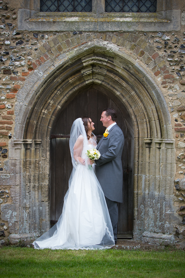Hayley Ruth Photography , yellow buttonhole, church, stephanie allin dress, yellow and cream bridal bouquet
