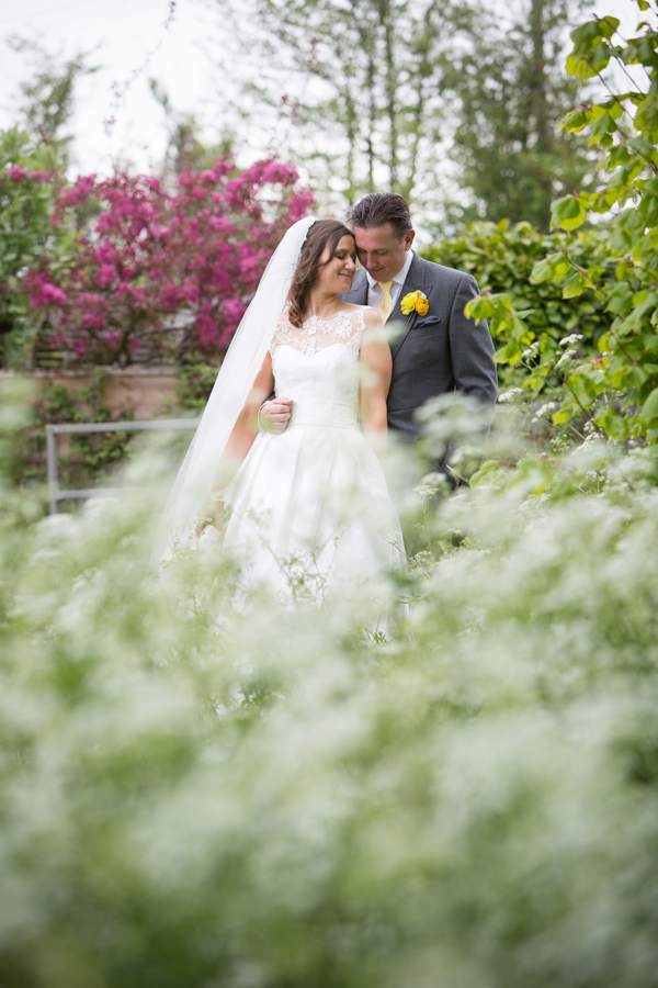 Hayley Ruth Photography, bride and groom, yellow buttonhole, stephanie allin dress,