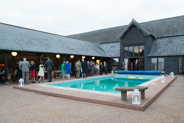 Hayley Ruth Photography , Sturmer Hall, private pool, yellow rubber ducks, wedding guests, wedding reception