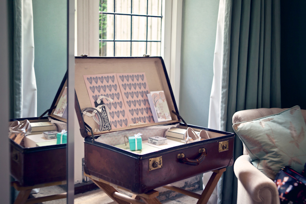 Karen Massey Photography, suitcase of wedding details