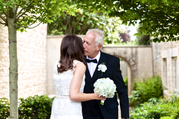 Karen Massey Photography, bride and her pops embrace