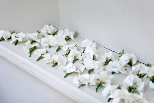 Karen Massey Photography, white flower buttonholes