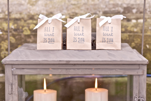 Karen Massey Photography, wedding favour bags , candles