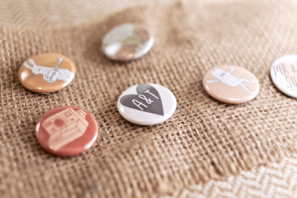 Karen Massey Photography, wedding badges
