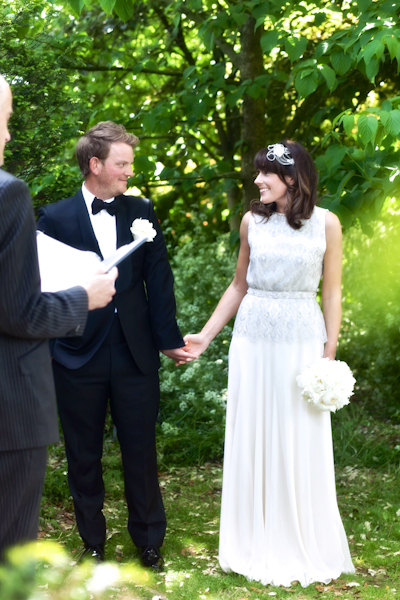 Karen Massey Photography, bride and groom, wedding ceremony, jenny packham silverbell dress, tom ford suit