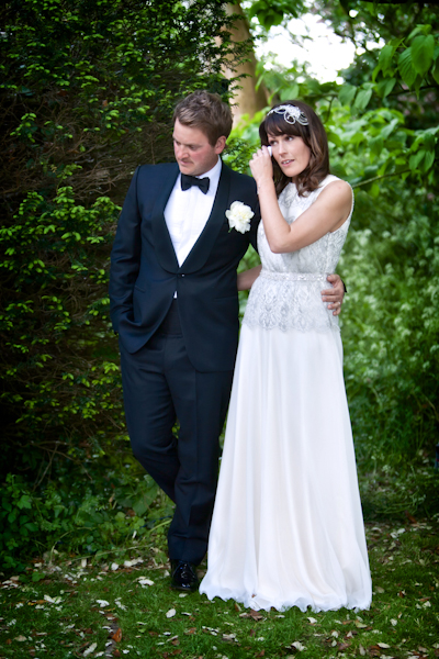 Karen Massey Photography, bride and groom wedding ceremony, tom ford suit, jenny packham silverbell dress