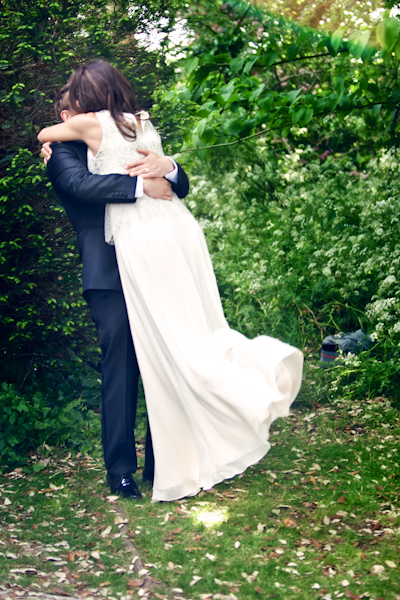 Karen Massey Photography, bride and groom hugging