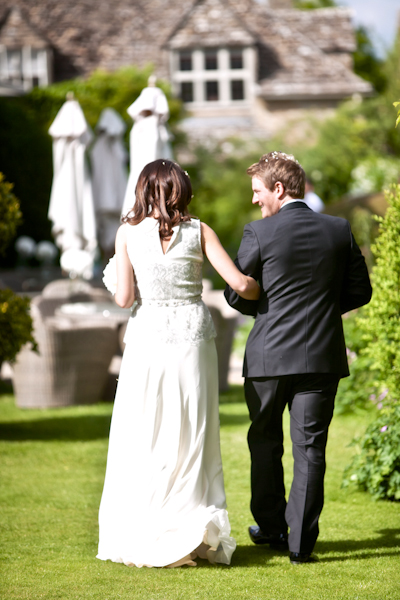 Karen Massey Photography, bride and groom, barnsley house