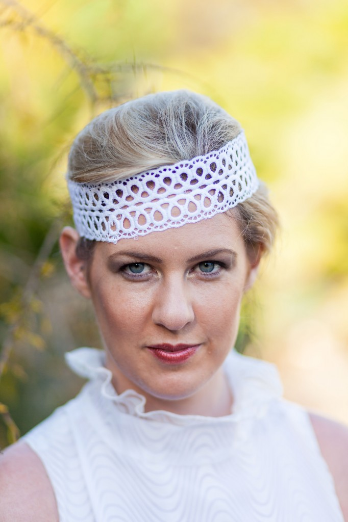 Chris Cowley Photography, bride, lace headband, eco friendly shoot, ethical wedding, recycled wedding