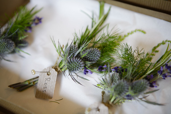 thistle buttonholes, silver photgraphy