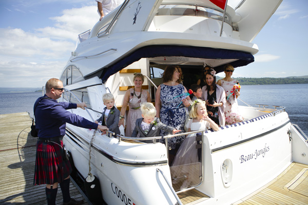 loch lomond yacht transfers, wedding transport, the beaujangles, silver photography