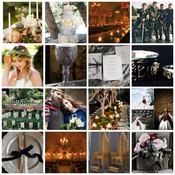 A Medieval Wedding Theme With A Touch Of Game Of Thrones