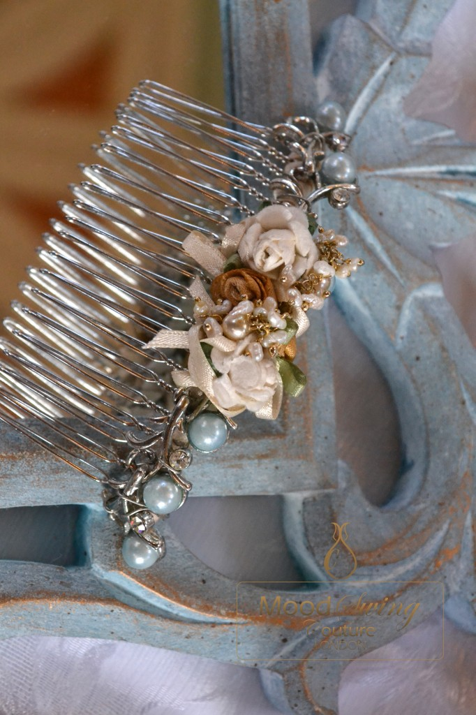Victoriana vintage bridal comb, moodswing couture london