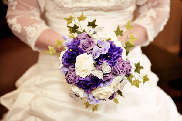purple and lilac bridal bouquet, adam watts photography