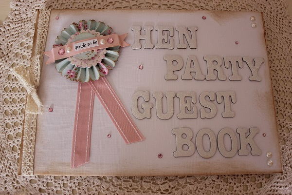 Hen Party Guest Book, vintage hen house, vintage inspired hen parties, in association with whimsical wishes