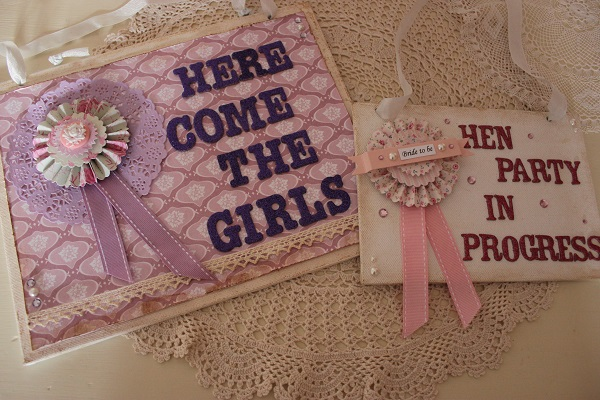 Hen Party Signs,  vintage hen house, vintage inspired hen parties, in association with whimsical wishes
