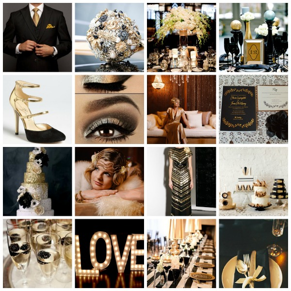 Hollywood Glamour Wedding Theme Mood Board Ideas And Styling