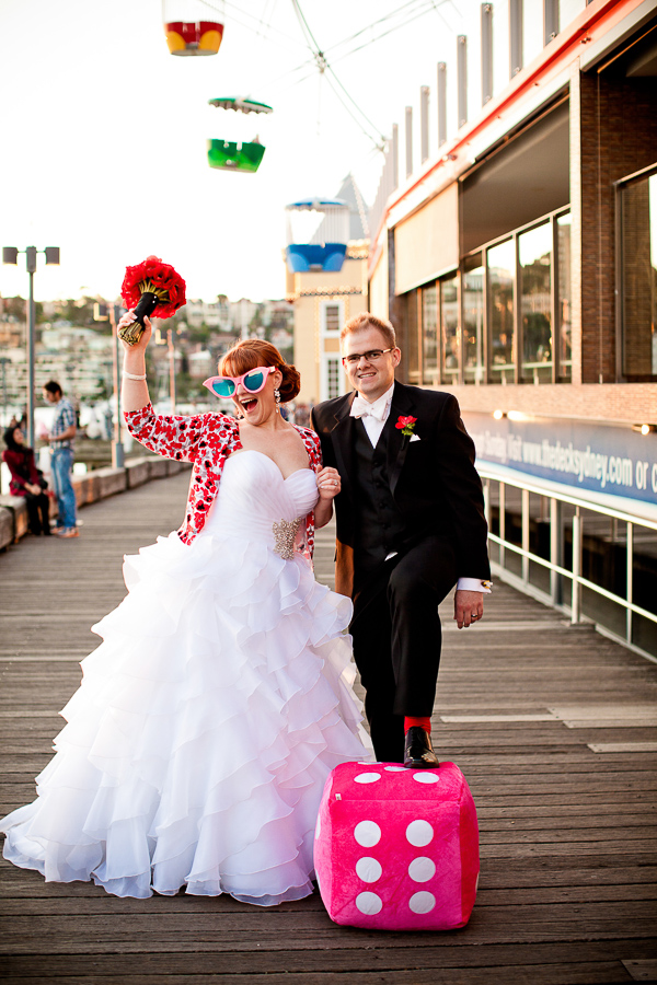 lego wedding, lego themed wedding, gemma clarke photography, sydney wedding photographer, red floral bouquet, wahroonga flower shoppe sydney, luna park sydney , Dress / Suit – Spurling Bridal/Jean Fox Parramatta