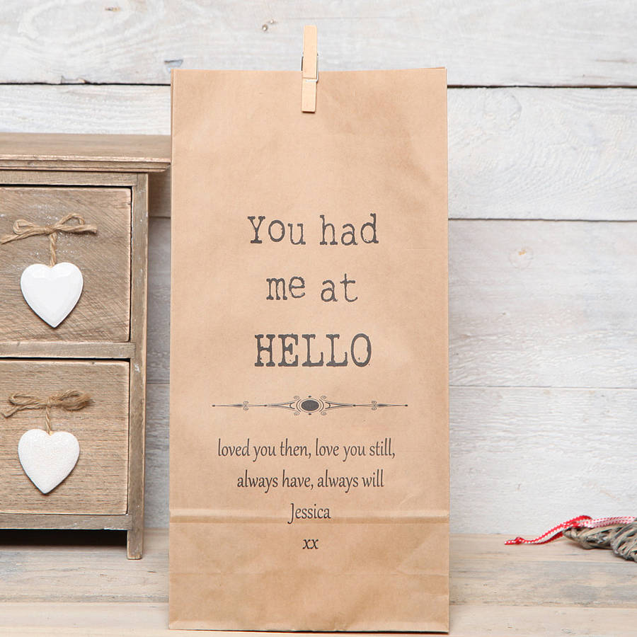 personalised-movie-quote-gift-bag, red berry apple , wedding gift bag, wedding favour bag
