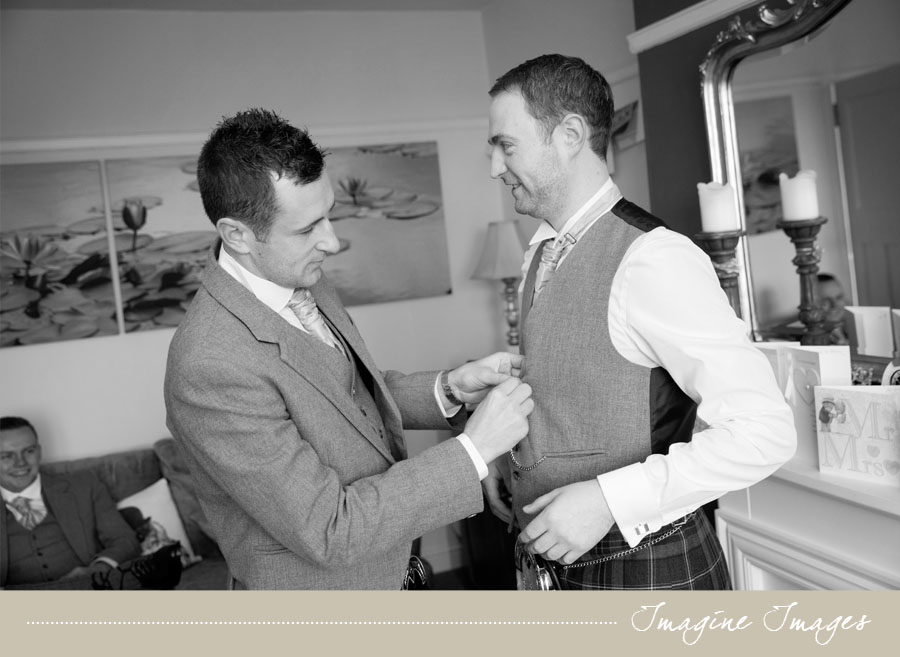 groom getting ready, lochgreen house, imagine images