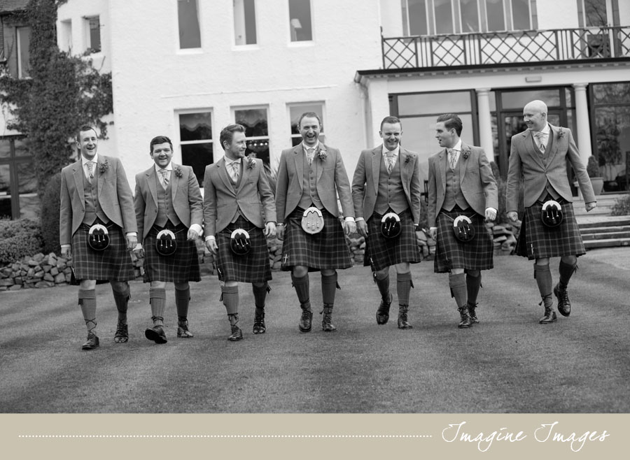 imagine images, groom and groomsmen, lochgreen house troon