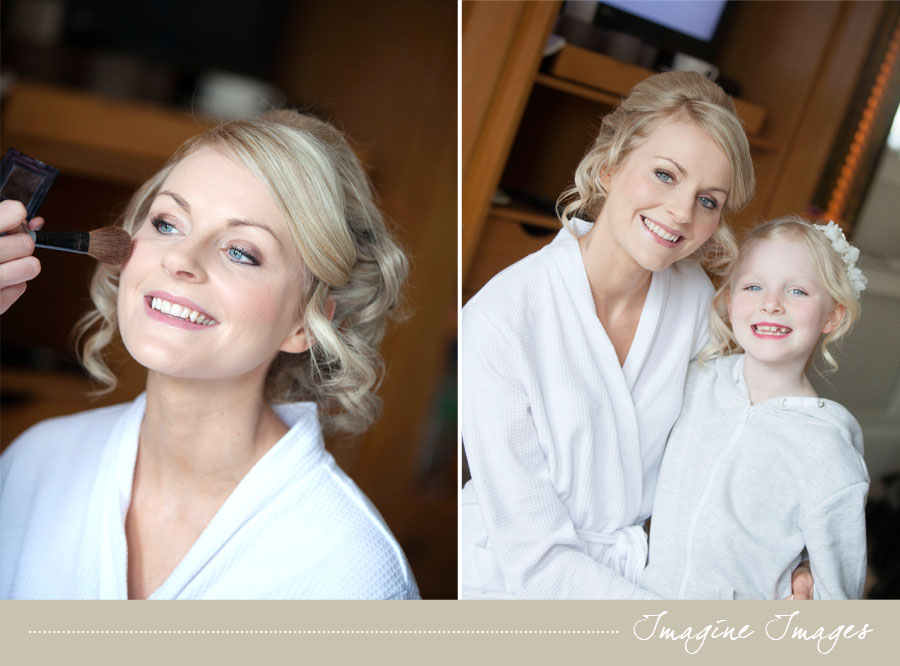 bride and flowergirl, imagine images, lochgreen house