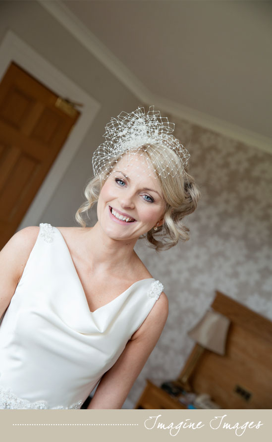 bride, bircage veil, lochgreen house, imagine imaes