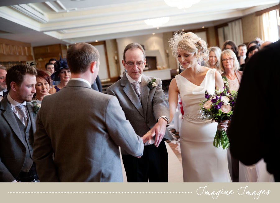 bride, groom, father of the bride, wedding ceremony, lochgreen house, imagine images