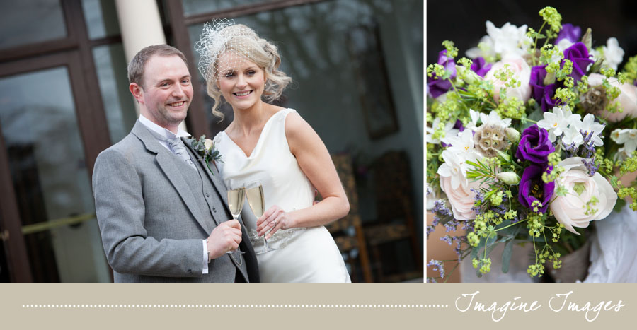 drinks reception, bride and groom, lochgreen house, imagine images