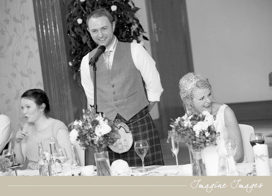 wedding speeches, lochgreen house, imagine images