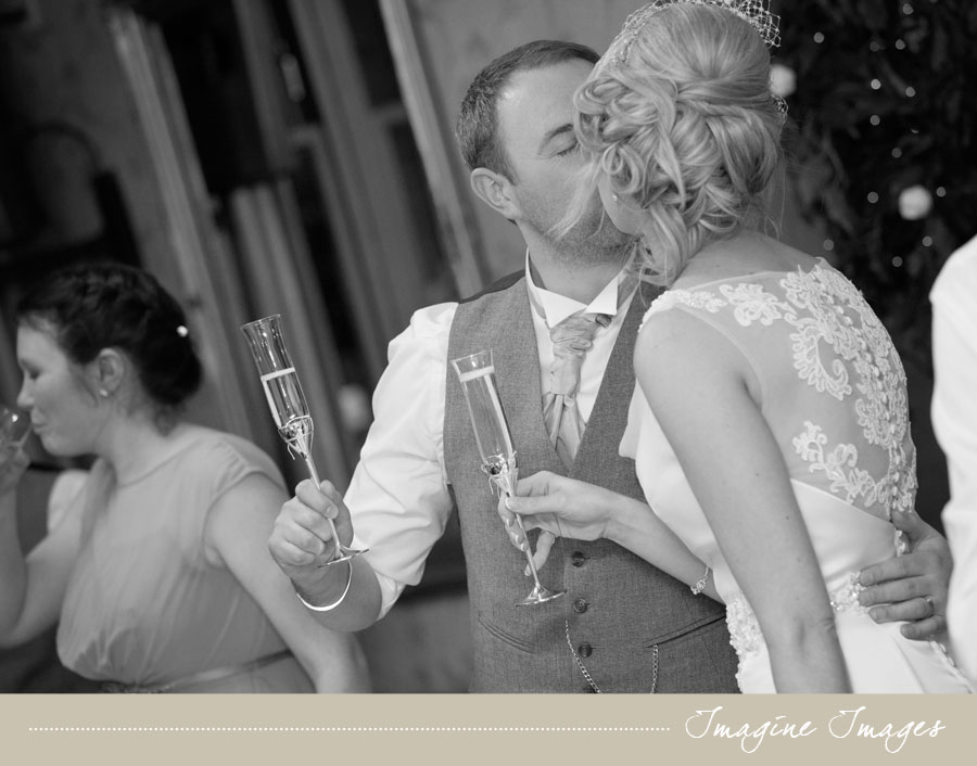bride and groom kiss, lochgreen house, imagine images