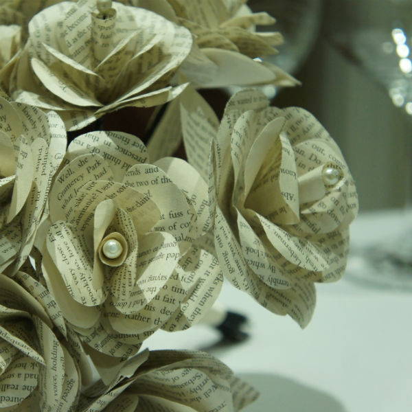 Bespoke Paper rose bouquet, Ribbons and Tulle